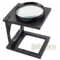 Лупа 2,5х кратная настольная BEE-Lens Compact с подставкой для переноса личинок в пчеловодстве