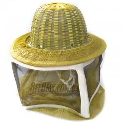 Маска с металлической сеткой + бамбуковая шляпа