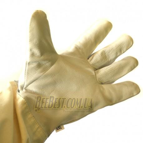 Перчатки кожаные с нарукавником