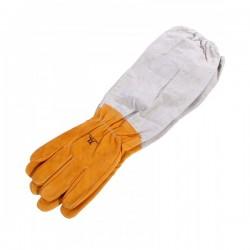 """Перчатки кожаные """"BEELAND"""" желтые"""